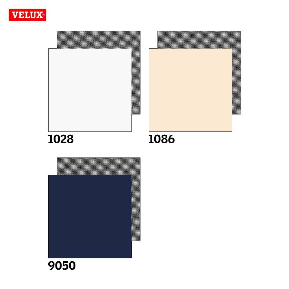 Velux Sichtschutzrollo + Markise Farbkarte