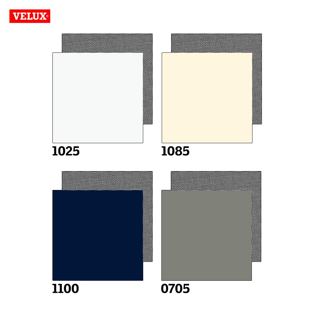 Velux Verdunkelungsrollo + Markise Farbkarte