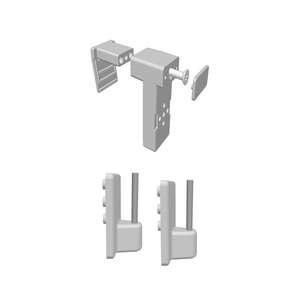 NEU ! 8x Fenster-Klemm-Halter für Vitrage- Einhänger Gardienenstange