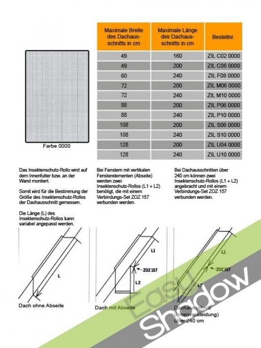 Original Velux Insektenschutz-Rollo Insektenschutzrollo für alle Dachfenster ZIL GGL,GPL,GHL,GGU,GPU,GHU,VL,VU,VKU,VK