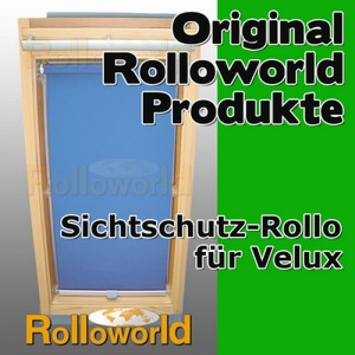 sichtschutzrollo rollo f r velux ggl gpl ghl gtl 606 12 farben. Black Bedroom Furniture Sets. Home Design Ideas